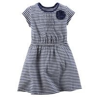 Платье Carters в бело-синюю полоску 162-2689 - в интернет магазине Kindo. a5facd4a7fc99