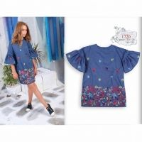 Платье Mone цвета деним 162-2836 - в интернет магазине Kindo.ua 6692d5b8e3674
