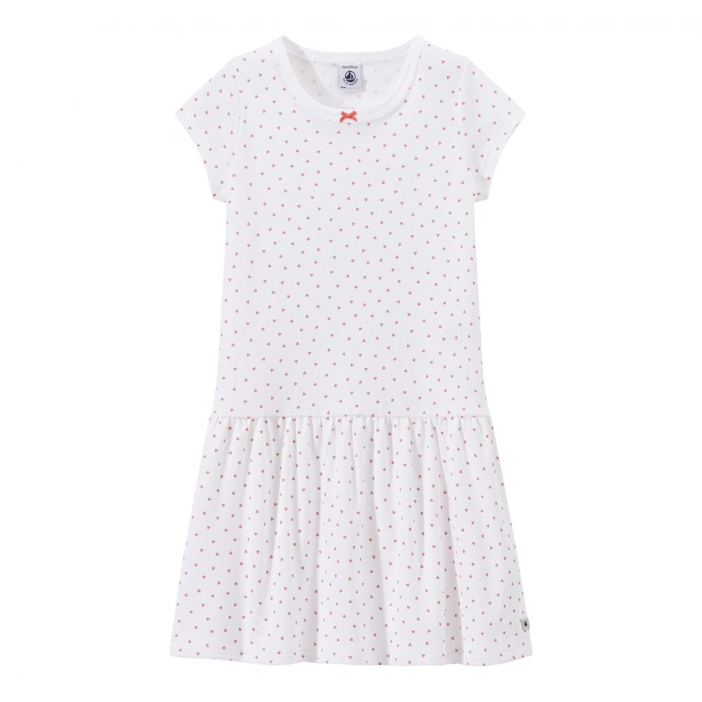14a949930e6 Платье Petit Bateau белого цвета в горошек 162-2644 - купить по отличным  ценам в