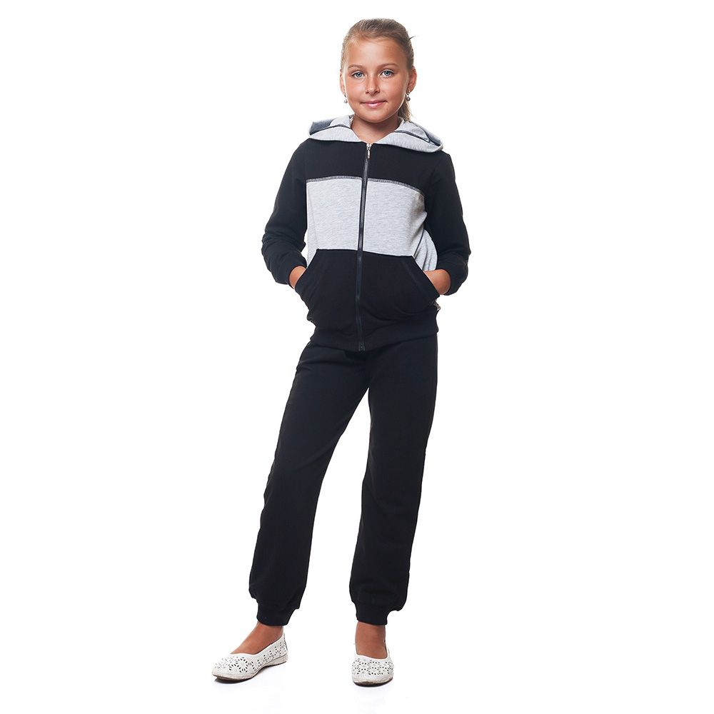 Спортивный костюм Kids Couture черного цвета с вставками 179-507
