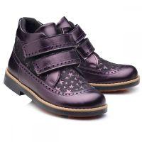 8b51a6a40bf1 Ботинки Theo Leo для девочек, фиолетовые 286-7501 - в интернет магазине  Kindo.