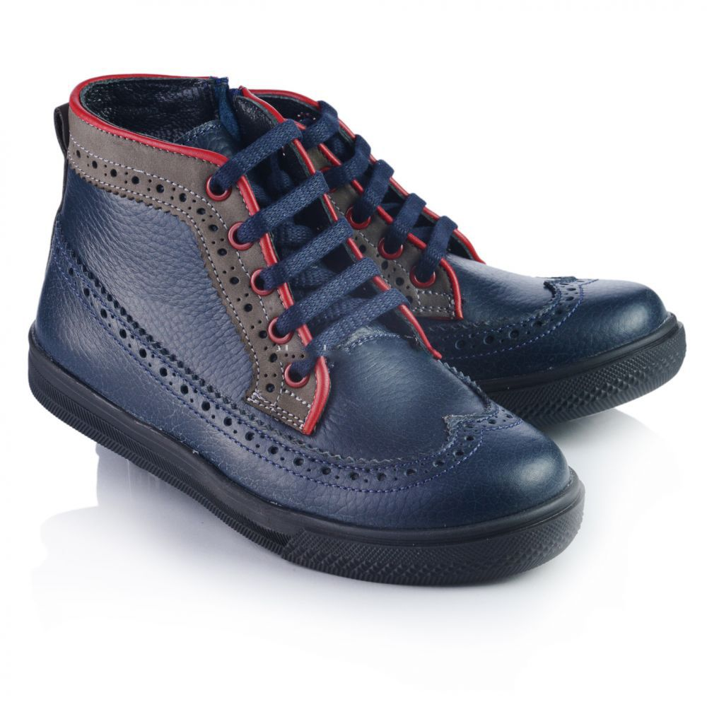 4f4a448e9 Ботинки демисезонные Theo Leo (р.31-36) для мальчика, синие 286-4652 ...