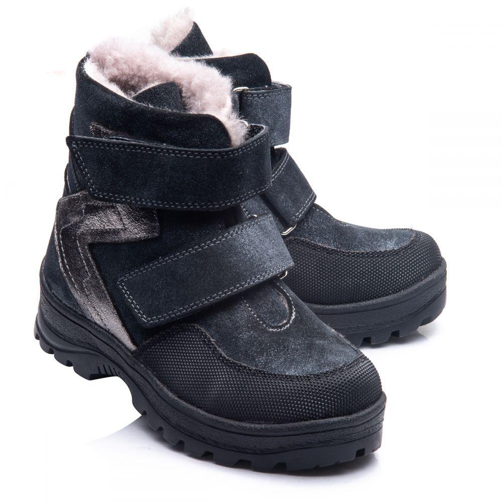 4f9311d5 Зимние ботинки Theo Leo для мальчиков, черные с серым 286-7505 ...