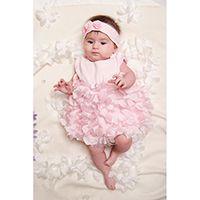Платье-боди Choupette с объемными цветами, цвет розовый