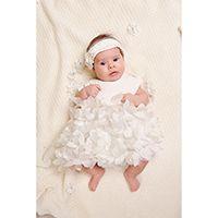 Платье-боди Choupette с объемными цветами, цвет экрю