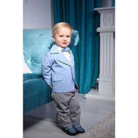 Костюм Gentlebaby: пиджак, штаны, рубашка, бабочка для маленького модника