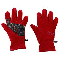 Перчатки Jack Wolfskin «FLEECE GLOVE KIDS», красные