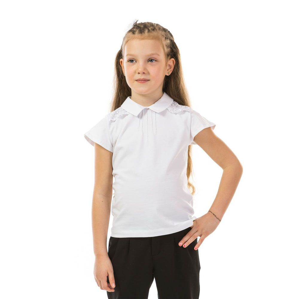 Школьная кофта Kids Couture для девочки, белая 399-422