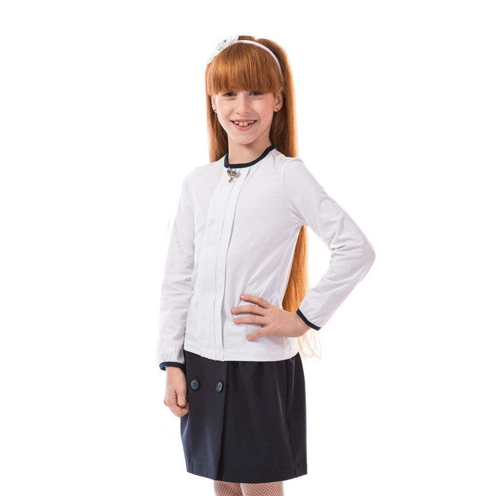Школьная кофта Kids Couture для девочки (белая) 399-424