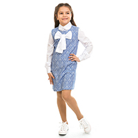 Сарафан Kids Couture жаккард синего цвета