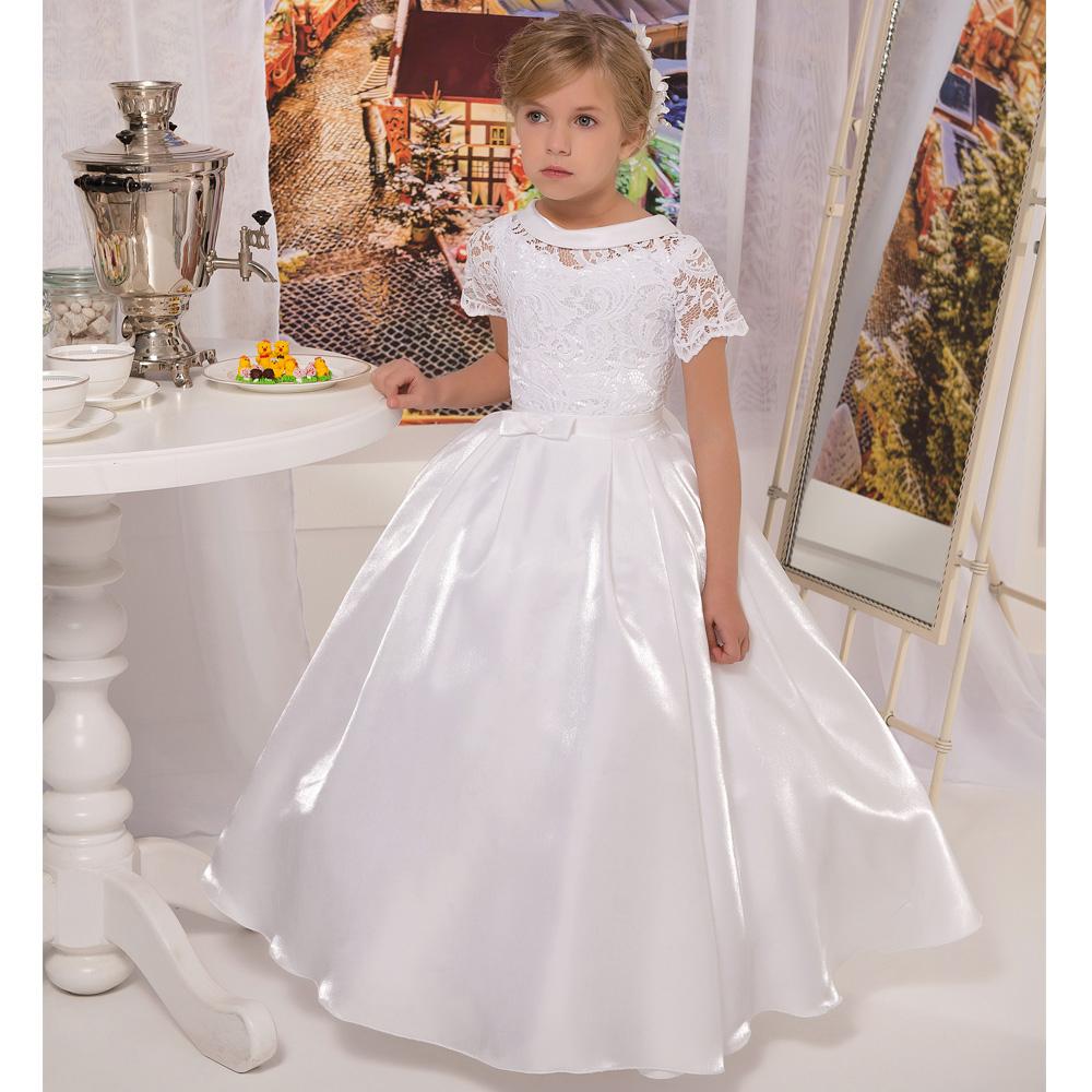 Белое пышное платье на девочку