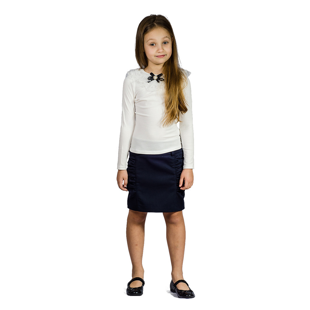 Школьная блузка Kids Couture для девочки белая